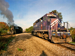 Trading Diesel for Steam: 1 (craigsanders429) Tags: wheelinglakeerie wheelinglakeerierailway wlemotivepower wle wle3073 steamlocomotives steamtrains steamexcursions steamtrain ohiocentralrailroad ohiocentralsystem ohiocentral1293 orrvillerailroadheritagesociety
