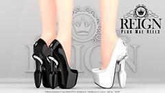 REIGN.- PLUG MAE HEELS! (Kenadee Reign) Tags: romp reign shoes secondlife slink maitreya mesh tmp belleza body