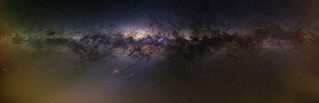 Milky Way through the Airglow - 50mm Panorama