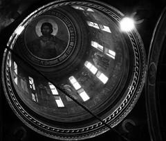 Detail Ceiling (Miranda Ruiter) Tags: church orthodox ceiling iconography painting art religion bucarest romania historic blackandwhite