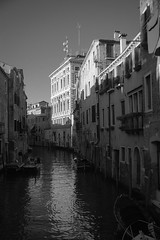 architectural forms and movements, canal, reflections, Venice, Italy, Nikon D40, Sigma 18-50mm EX DC MACRO, 10.21.16 (steve aimone) Tags: architecture architecturalforms canal reflections light venice italy cityscape blackandwhite monochrome monochromatic nikond40 sigma1850mmexdcmacro