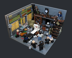 Come Quietly Or There Will Be... Trouble! (Grantmasters) Tags: robocop lego moc drug warehouse robocoptober