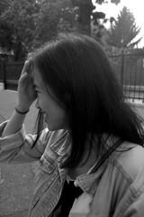 Chhay! (Chlo Pichouron) Tags: france cambodge cambodgienne franaise student tudiante nice niceville pretty girl femme jeune jeunesse free libert libre young bw black white noir et blanc dream dreams rverie