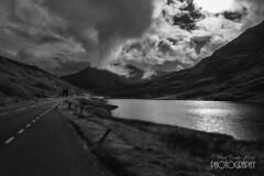 Grampiany - Arrochar Alps (pavel conka) Tags: grampiany arrochar apls scotland conka 2016 loch outdoor cloud landscape mountain sky peak hill mountainside foothill bw black white