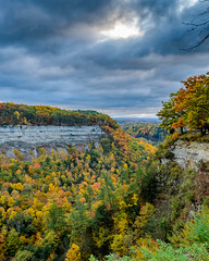 The calm before..... (Paul Bryd) Tags: landscape nature state park letchworth water falls geneseeriver gorge