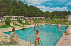 Paul's Cabins Old Orchard Beach, Maine (1950sUnlimited) Tags: travel vacation tourism maine roadtrips postcards leisure roadside poolside inns motels midcentury bungalows cabins cabanas swimmingpools motorlodges oldorchardbeachmaine motorinns paulscabins