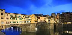 Ponte Vecchio at Dusk (Jim See) Tags: italy reflections florence dusk ponte tuscany firenze arno afterdark pontevecchio vecchio