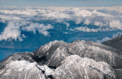 Howe Sound & Coastal Range II (Gus Thompson) Tags: ocean above mountains water coast coastrange hdrf