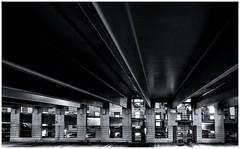 Garage Abstract (sorrellbruce) Tags: bw abstract geometric mall fuji garage forms silverefexpro lightroom5 fujixe2 bwabstact