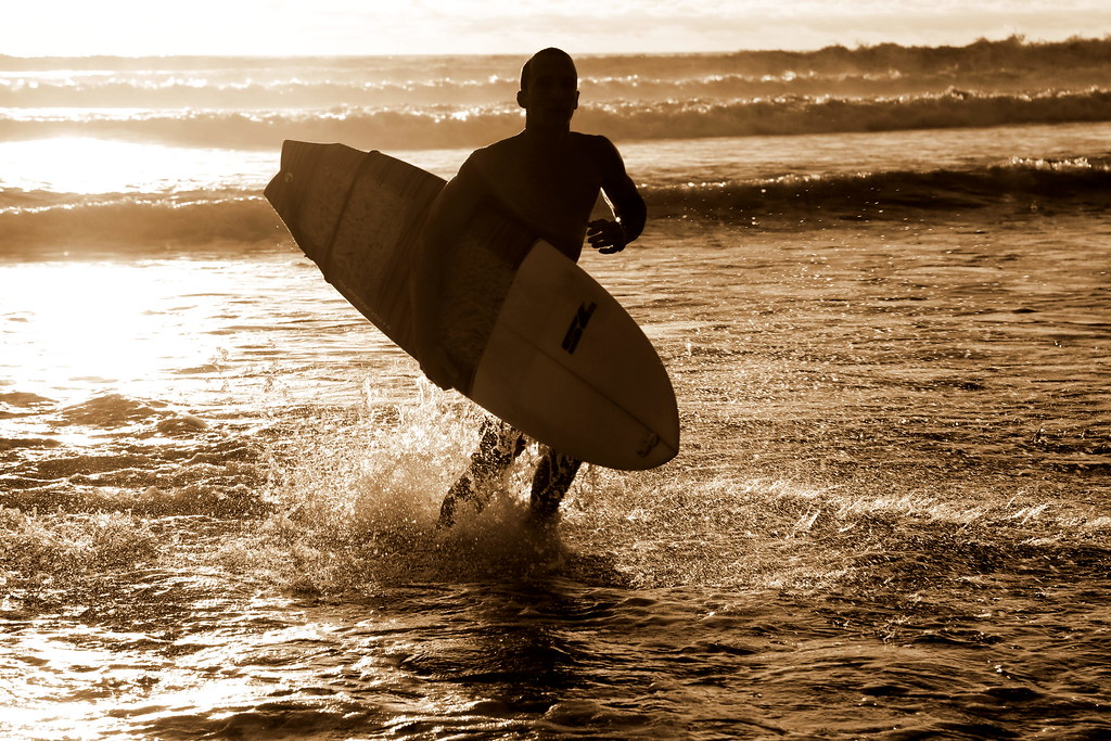 Surfer at sunset by f514nc0, on Flickr