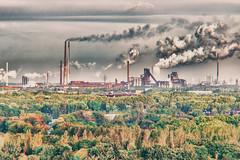 Der Pott kocht (Ruhrgebiet) (uw67) Tags: landschaftspark duisburg ruhrgebiet zeche rauch dampf kamine morgenstimmung lapadu hochöfen schlote analogefex