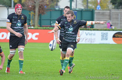 Stephen Myler kicks in touch