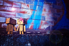 Night Life 2 (loulovesdanbo) Tags: stilllife cute modern night toy photography lights colorful character flare expressive nightlife adventures danbo danbos danboard danboru danbomini danbophotography