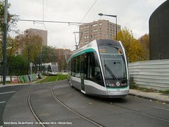 Rue Maurice Thorez / Rue de la Poterie (ernstkers) Tags: citadis lightrail ratp streetcar t8 tram tramvia tranvia trolley strasenbahn elctrico bonde sprvagn