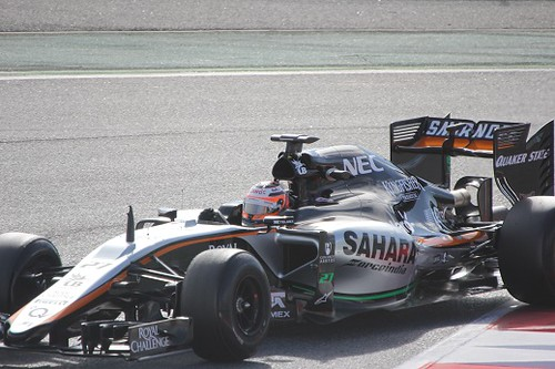 Nico Hulkenberg in the Force India at Formula One Winter Testing 2015