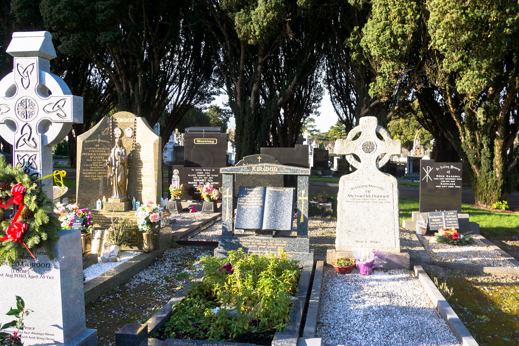 A MORE MODERN SECTION OF GLASNEVIN CEMETERY WHERE SOME ARE BURIED IN STYLE REF-101220
