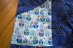Pocket detail (quinn.anya) Tags: blue pocket dots matryoshka russiannestingdolls