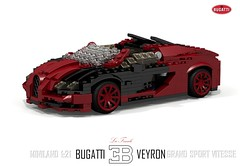 Bugatti Veyron EB 16.4 Grand Sport Vitesse - La Finale (lego911) Tags: auto car sport vw volkswagen la model lego render under over grand million 164 finale bugatti supercar challenge thousand eb cad lugnuts 89 veyron targa povray vitesse moc ldd miniland hypercar lego911 overamillionunderathousand