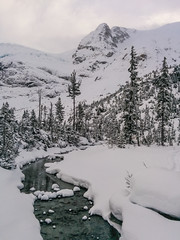 Joffre Lakes Trail (luke.me.up) Tags: winter snow canada hiking britishcolumbia snowshoeing winterwonderland coastmountainrange joffrelakes beautifulbc joffrelakesprovincialpark nexus5