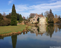 Scotney Castle ({House} Photography) Tags: trees sky sun house reflection castle wet water clouds spring 5 wells national trust timothy moat eastsussex tunbridge scotney iphone housephotography