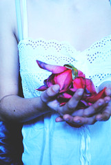 something broken (Olivia Dileo) Tags: light white flower art broken self photography soft sad arm artistic pale delicate paleskin sofference