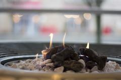 Flames and Bokeh (The6millionpman) Tags: fire 50mm nikon rocks bokeh stones flames pebbles