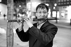 YinHongbo (local paparazzi (isthmusportrait.com)) Tags: street portrait blackandwhite bw white black detail blanco night contrast fun outdoors person eos 50mm prime student pod lowlight aperture downtown raw dof bokeh iso400 unique f14 candid character negro clarity posed stranger flute personality story musical study nighttime human talent selftaught portraiture fancy instrument learning uwmadison barrier usm madisonwi language statestreet brightness ef skill brokenenglish 2014 welldressed sharpness canonraw cr2 isthmus 50mmf14usm madison365 100strangers danecountywisconsin iso5000 photoshopelements7 canon5dmarkii pse7 localpaparazzi redskyrocketman lopaps isthmusportrait 608strangers