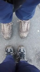 Pair of muddy boots (Mrs Bs Photos) Tags: mobile boots motorola moto pairs muddy muddyboots motog