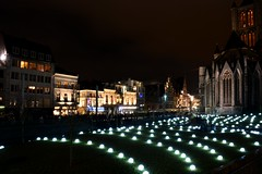 Festival of lights 2015 (Wim Bollein) Tags: winter festival night dark lights lawn balls ghent