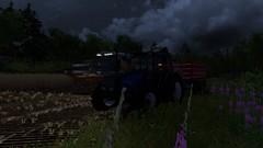 Harvesting at Night (Vessu99) Tags: sampo valmet 6400