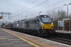 68015 & 68011 Harrow & Wealdstone (AJHigham) Tags: rail loco move class cm crewe depot services direct chiltern wembley 68 mainline drs 68015 68011 harrowwealdstone liveried