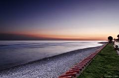The end of the day (Jose Gimenez Fotografa) Tags: barcelona blue sunset sea orange sun seascape color beach nature landscape atardecer mediterraneo seascapes playa catalunya bluehour sitges nikonistas nikond7000