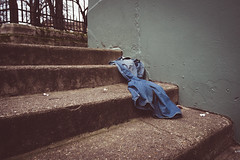 Someone is naked from waste down (BenChapmanphoto) Tags: street city stairs concrete photography fuji norfolk steps january ground odd jeans r rubbish norwich denim fujifilm f2 waste 18mm xf 2015 primelens satirs xpro1 fujifilmxf18mmf2r