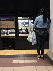 waiting (Molly Des Jardin) Tags: street city blue people urban usa signs philadelphia public station sign stairs underground subway waiting metro market map pennsylvania centercity center el system line transportation transit denim septa 8th 2014 mfl frankford iphone5backcamera412mmf24