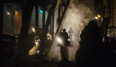 Silhouettes in the Mist... (Tasayu Tasnaphun) Tags: nyc newyork tv location batman series dccomics gotham ridgewood