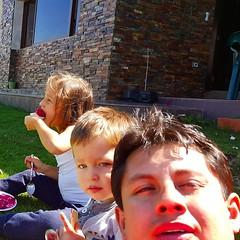 En el #postre #helados #fds #familia #sobrinos #camilin #Juliana