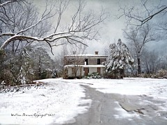 "A ""Hauntingly"" Beautiful Snow in Davistown: Davistown, Edgecombe County, North Carolina (EdgecombePlanter) Tags: winter snow painterly abandoned dark nc snowy decay south northcarolina spooky textures southern oldhouse carolina icy antebellum italianate winterscene likeapainting rurallandscape"