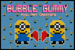 Minion San Valentin (Bubble Gummy pixel art) Tags: art love film me movie beads san geek heart films cartoon sprite peliculas valentine pixel pixelart dibujos valentin cartoons corazon hama perler gru minions sanvalentin 8bits despicable minion hamabeads beadsprite despicableme grumivillanofavorito bubblegummy bubblegummypixelart
