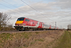 Virgin East Coast DVT Mark 4 82219 & Class 91 91124 (Barry Duffin) Tags: uk england london train photography nikon leeds rail railway trains virgin cromwell ecml eastcost d3000 82219 91124 1a18 virgineastcoast
