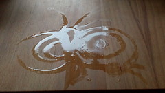 Painting with water - Butterfly (raumoberbayern) Tags: water kitchen butterfly table wasser draw kche tisch schmetterling robbbilder zeichnen