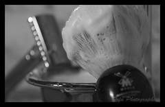 shaving - oldschool (Rjianis) Tags: black macro bathroom blackwhite bad foam shaving makro hygiene razor hygene badezimmer pinsel muehle rasierer rasieren schwarzweis rasierpinsel tofuphotographics