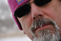 My icy beard after a winter hike (Let Ideas Compete) Tags: winter portrait man ice me wet face sunglasses hair myself beard nose grey frozen gray lips whiskers nostril facialhair icy dripping pores beardedman nostrils selfie beardedguy