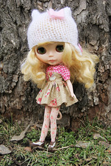 Lamby in one of Andi's hats <3