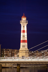 Malmö Inre Fyr III (Gustaf_E) Tags: lighthouse skåne sweden sverige malmö natt stad fyr kväll universitetsbron inrefyr