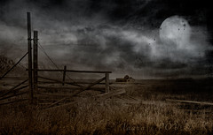 selenophilia (laura's POV) Tags: selenophile night dark darkness moon light clouds mountains valley prairie fence alone abandoned texture jacksonhole jackson gtnp grandtetonnationalpark tetons wyoming fear lauraspov lauraspointofview sonya7rii mormonrow barn vintage old abandonedhouse farm explore