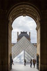 Louvre Museum (amoeboid) Tags: door paris france glass museum architecture arch pyramid louvre canon1022mm canon60d