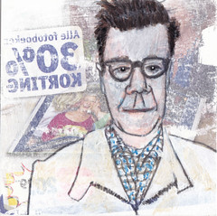 # 193 (11-07-2016) (h e r m a n) Tags: herman illustratie tekening bock oosterhout zwembad 10x10cm 3651tekenevent tegeltje drawing illustration karton carton cardboard portrait portret man male bril 30 korting