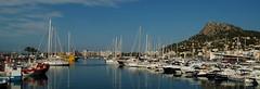 marina (gillybooze) Tags: sea sky seascape mountains water weather marina boats spain yacht vista panarama lestartit allrightsreserved