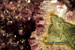 Geode from Brazil (alyellax) Tags: city edinburgh museum nationalmuseum photography scotland geode gem jewel brazil mine mineral purple pretty gemstone nature natural semiprecious sparkle