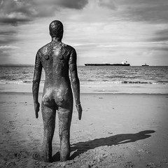 The watcher (realcoolchris1) Tags: liverpool anthonygormley anotherday